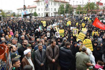تجمع مردمی سلیمانی ها در پیاده راه فرهنگی رشت