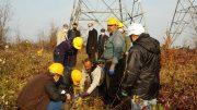 عملیات اجرایی پروژه تعویض سیم های خط دومداره پست لاهیجان ۲ آغاز شد