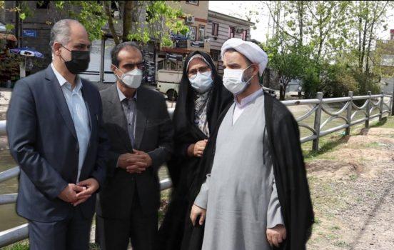 وعده دیگری که جامه عمل پوشید؛ به کارگیری بهینه نرده های جمع آوری شده از بلوار امام خمینی (ره) رشت در نقاط پر مخاطره رشت