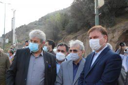 بازدید رئیس سازمان برنامه و بودجه و استاندار گیلان از پروژه آزادراه رشت – قزوین